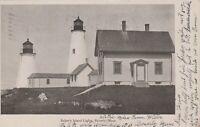 Beverly MA Baker's Island Lighthouse c1905 Postcard