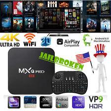 MXQ PRO S905X Quad Core Android 6.0 4K TV BOX 1+8G HDMI 17.0 Wifi Kodi Keyboard