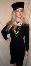 Jaw Dropping Designer Little Black Dress ST JOHN 6 SANTANA KNIT Luxurious $995