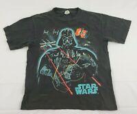 Vintage 1996 Lucas Films Star Wars Darth Vader T Shirt Tee Youth L 14-16 Black