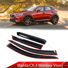 For Mazda CX3 CX-3 SUV 2015-2019 Side Window Visor Sun Rain Guards Smoke