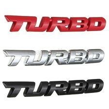 3D Lettering TURBO Decal Metal Badge Sticker For Car Rear Trunk Fender Emblem