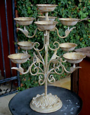 Stunning  tUSCAN sTYLE Iron / mETAL  Candelabra     BRAND NEW    * REDUCED *