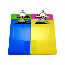 Cypress Lane Letter Size Plastic Clipboard, Standard Butterfly Clip, 4 Pack.