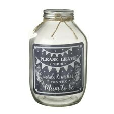 Heaven Sends Wish Jar for A New Mum to Be Gift - Baby Shower Modern Guest Book