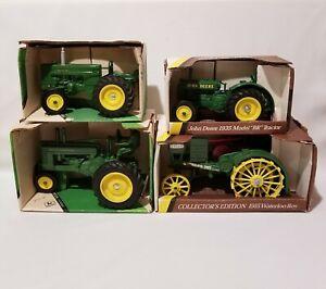 Lot Of 4 John Deere Ertl 1/16 Diecast Metal Tractors NIB  #559 #539 #540 #5586