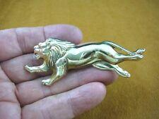 (b-lion-200) xl Running lion wild cats big cat lions pin pendant brass brooch