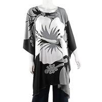 olive black caftan tunic Rayon batik Floral Printed Kaftan s m l xl 1x 2x 3x os
