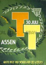 1950 Dutch TT Assen 25th Anniversary Poster Print  ca 8 x 10 print prent poster