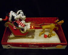 DISNEY ANIMATED MICKEY MOUSE & MINNIE SLEIGH CHRISTMAS MOTION MUSIC LIGHTS NEW