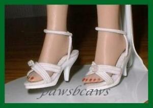 WHITE High Heel SHOES for CISSETTE Tiny Kitty Collier COQUETTE CISSY