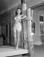 "1942 Woman Modeling a Corsellette Vintage Old Photo 8.5"" x 11"" Reprint"