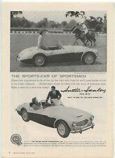 1959 Austin Healy 100-Six Print Ad Blind Brook Polo Club