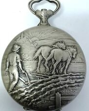 Hebdomas pocket watch case silver openface