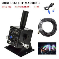 200W CO2 Jet Machine DMX 512 Switchable CO2 Column Jet Concert Device 110V