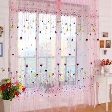 Balloon Tulle Voile Window Curtain Drape Sheer Scarf Valance Pink 100*270cm