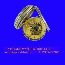 Rare Miniature French Empire Napoleonic Verge Fusee Pocket Watch 1810