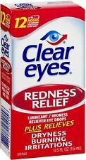 Clear Eyes, Redness Relief Eye Drops, 0.5 Fl Oz (15 mL)