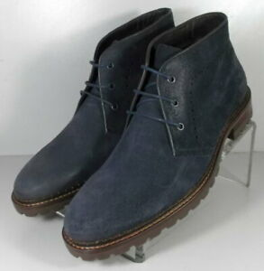 20NP128202 SPBT50 Men's Shoes Size 9 M Navy Suede Boots Johnston & Murphy