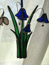 Hand-made stained glass bluebells flower suncatcher hanging decoration gift