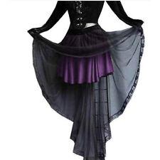 ROCK mit Schleppe 7133 schwarz/lila Gothic Vampir Steampunk neu 34 36 38 40