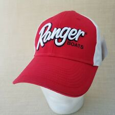 Ranger Boats Fishing Hat Ball Cap Red White Puffy Embroidery Structured NWT Box