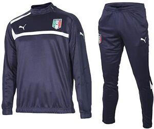 Puma Herren Trainingsanzug 1/2 Zip Italien , Blau , L , Neu
