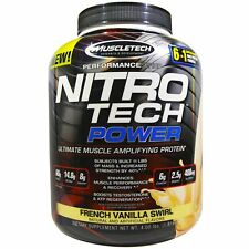 Muscletech, NitroTech Power, Ultimate Muscle Amplifying French Vanilla Swirl
