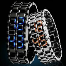 Lava Iron Samurai Men's Watch Luxury Stainless Steel Band LED Watch