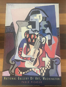 Pablo PICASSO National Gallery of Art Washington Poster 1993 HARLEQUIN MUSICIAN