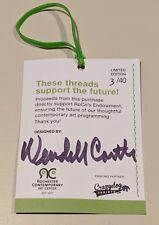 artist Wendell Castle signed auto autograph shirt tag 3 X 4 inches limited 3/40