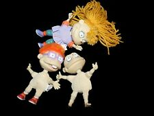 """Lot of 3 Nickelodean Rugrats small Plush Doll Angelica Chuckie Tommy Set 4"""""""