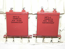 2 x NOS 10uF 160V 10% MBGO-2 PIO Paper-in-Oil Capacitors