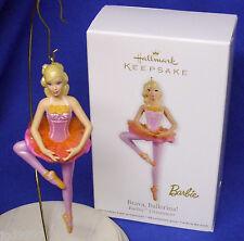 Hallmark Ornament Brava Ballerina 2012 Barbie Pink & Gold Tutu Ballet Pirouette