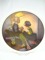 Vintage plate Knowles After The Party Norman Rockwell Mother's Day