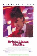 BRIGHT LIGHTS BIG CITY MOVIE POSTER ORIGINAL 27x40 MICHAEL J FOX 1988