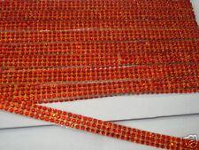 3mtr 3strip Rojo termoadhesivos Hotfix Cuerda Diamante Cristal