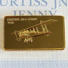 Curtiss JN-4 Jenny Oro Plateado Prueba Lingote-Jane 's del registro