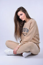 Women's Tracksuit Set Beige Made in Poland Joggers Jumper
