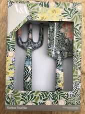 V&A Fork and Trowel Garden Tool Set, NEW Detail by William Morris, Bower 1877.