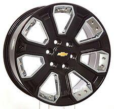 New 20 inch Chevy Silverado Tahoe Suburban Gloss Black w/ Chrome Inserts Wheels