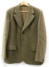 "BURTON HARRIS TWEED Vintage Green 100% Wool Tweed Button Up Jacket UK 44"" B18"