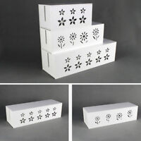 Cable Storage Box Wire Management Socket Case Organizer Safety Tidy White