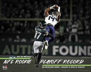 """DK Metcalf Seahawks NFL Playoff Record Rookie Receiving Yards 16"""" x 20"""" Photo"""