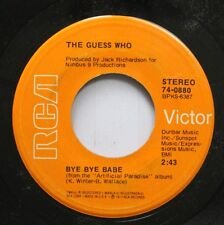 Rock 45 The Guess Who - Bye Babe / Follow Your Daughter Home On Rca Victor