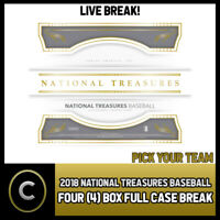 2018 PANINI NATIONAL TREASURES BASEBALL 4 BOX CASE BREAK #A629 - PICK YOUR TEAM