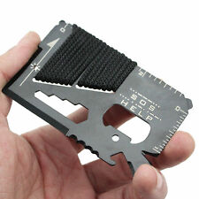 14 in1 Multifunction SOS Pocket Credit Card Survival Cutter Outdoor Camping Tool