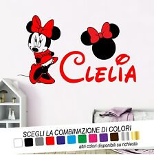 ADESIVI MURALI WALL STICKERS CASA DECORAZIONI VINILE MINNIE CAMERETTA DISNEY