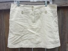 NEW NWT - New York & Company Textured Tan & White Skort - Size 12