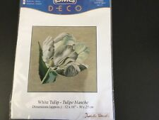 Counted Cross Stitch Kit - White Tulip - New